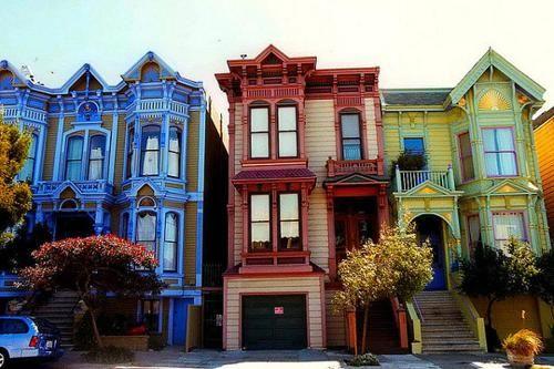San Francisco Casas Coloridas Casas Victorianas Recuerdos De Viaje