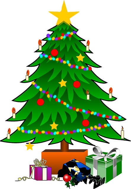 Free Image On Pixabay Christmas Tree Star Decoration Christmas Tree Images Christmas Tree Clipart Christmas Tree With Presents