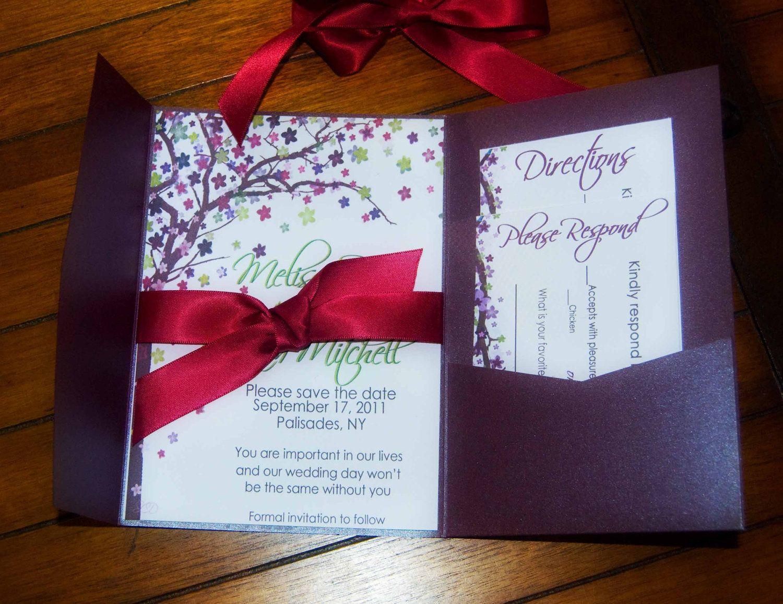 Wedding Invitations, Rustic Wedding invitations, Tree theme wedding ...