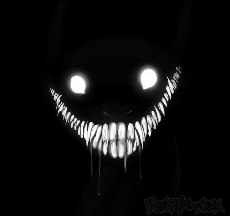Creep By Rosemary The Skunk On Deviantart Creepy Eyes Scary Art Creepy Drawings