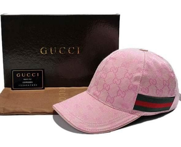 bdd97b001a3f8 Gucci GG Pattern Baseball Hat with Web Detail
