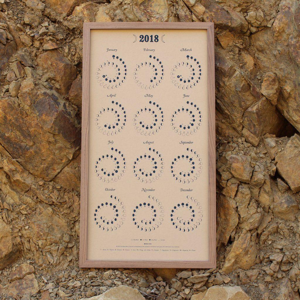 2018 moon calendar silkscreen moon calendar and products