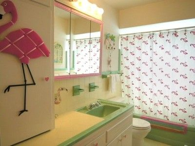 Mint Green Tile U0027flamingou0027 Bathroom