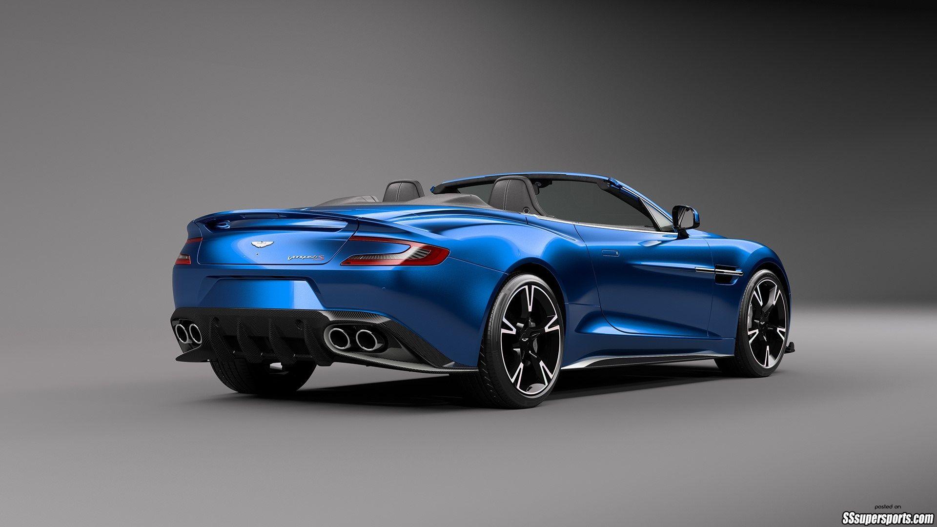 2 2018 Aston Martin Vanquish S Volante Rear Side View