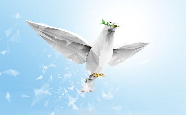 Dove of peace Advertising, Fine Arts, Illustration