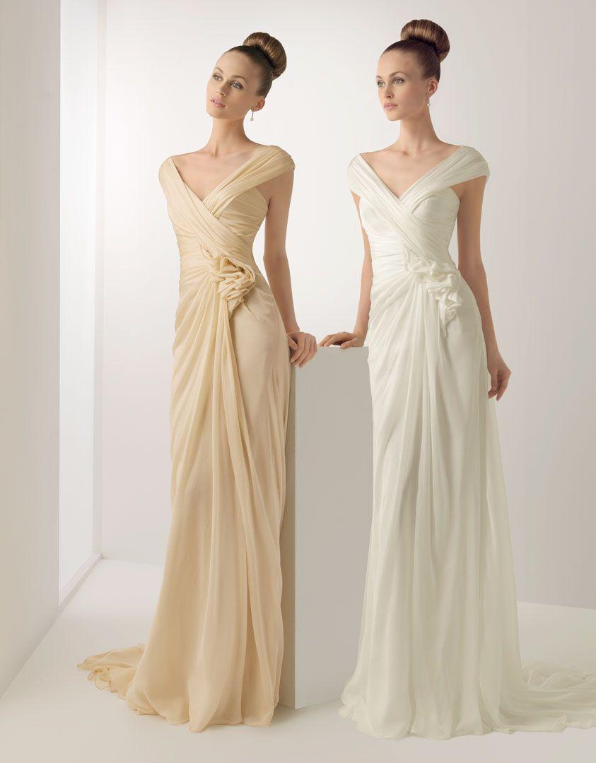 Champagne Vs Ivory Color Wedding Dresses White