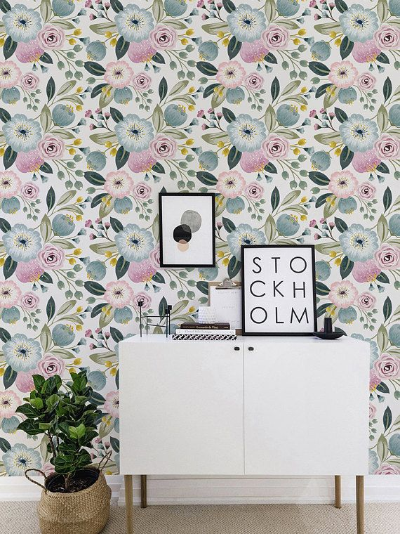 Seamless Flower Self Adhesive Wallpaper Vintage Floral Removable