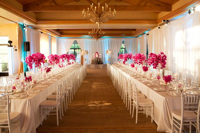 Fuschia Wedding Theme 21 Pelican Hill White Chic Decor Phalaenopsis Blog