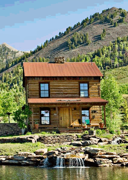 Two Story Log Cabin, Telluride, Colorado