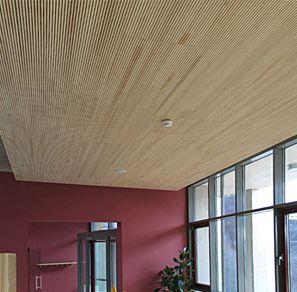 Les plafonds du salon et de la salle de jeux sont en bois. Il s ...