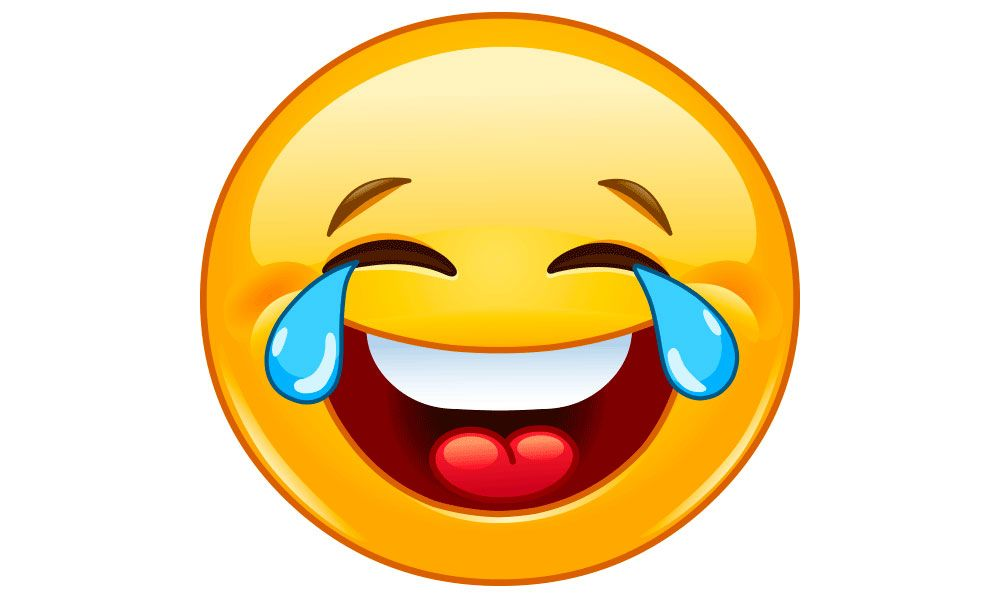 the lol emoji with tears of laughter is the most widely