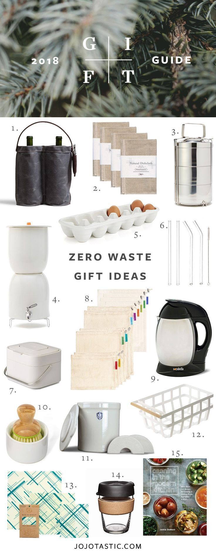 Zero Waste Gift Ideas for the Eco-Conscious, Gift Guide for Christmas & Holidays 2018 via jojotastic.com #giftguide #giftidea #giftgiving #gifts #presents #christmaspresents #christmasgiftideas #christmasgift #wellness #zerowaste #ecoliving #greenliving