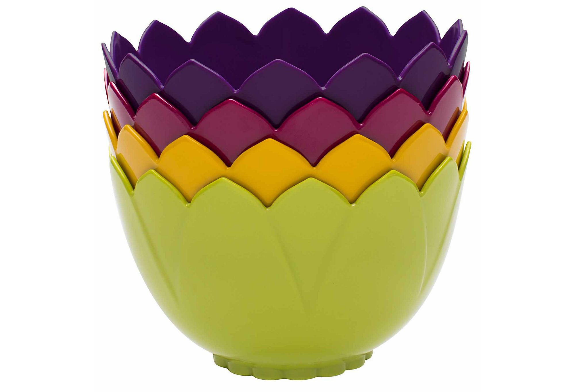 One Kings Lane - A Basket Full of Treats - S/4 Assorted Flora Bowls, 19 Oz