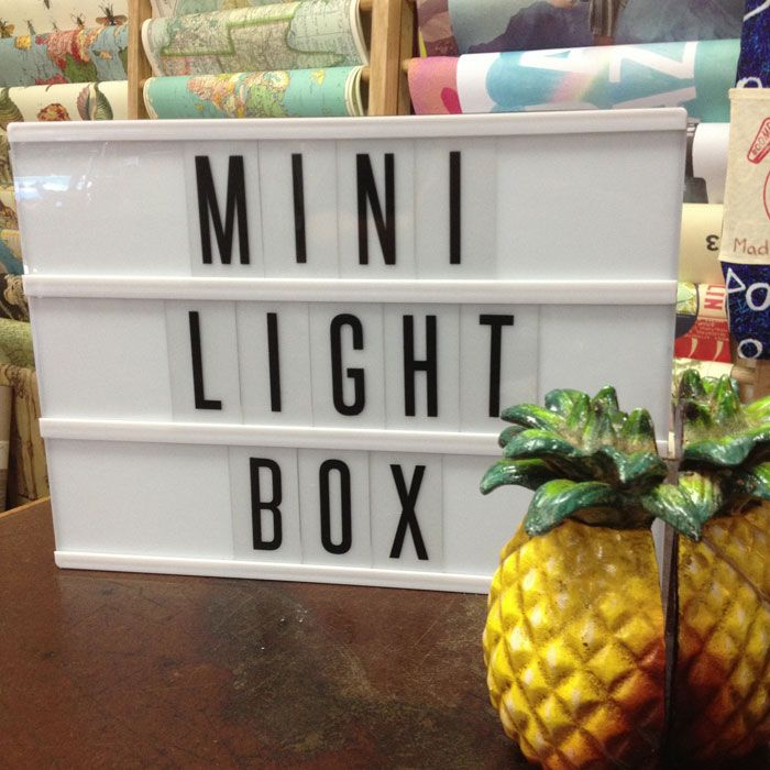 cinematic letter light box small 145 plus 30 courier 30cm x 22cm battery operated with
