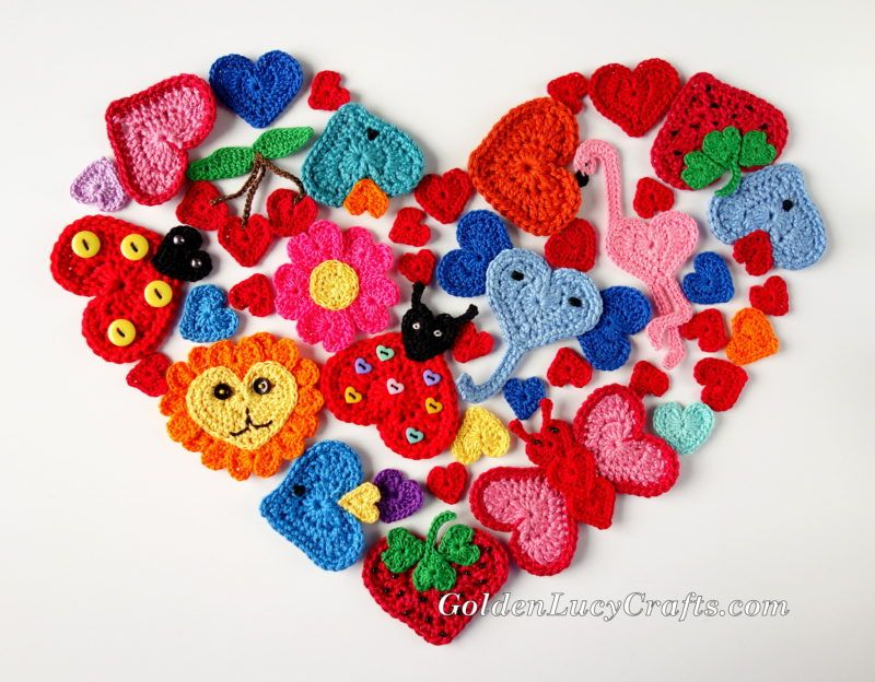 Valentine\'s Day collection, Free Crochet Patterns, #crochet, #heart ...