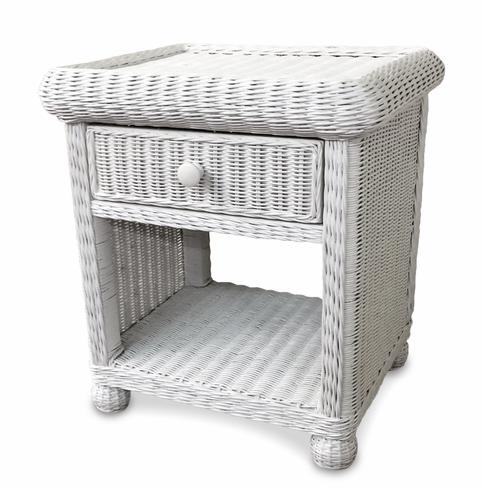 Wicker 1 Drawer Nightstand White Wicker Bedroom Furniture Pletenaya Mebel Rotanga Idei Dlya Doma