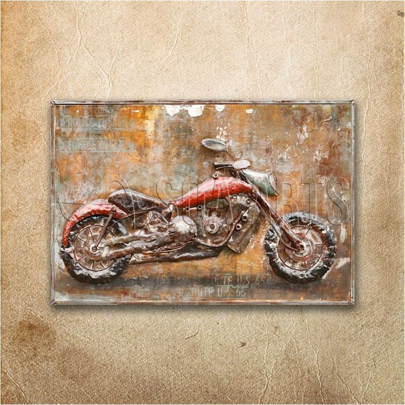 Recycled Vintage Motorcycle Wall Art Painting 3d View Motorcycles Painting Soa Arts Product Details From Shenzhen Soa Arts Co Ltd On Alibaba Com Motorcycle Wall Art Art Painting Painting