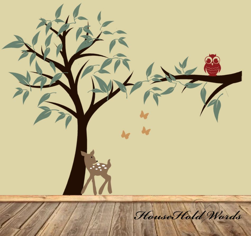 Nursery Tree wall Decal children decor for baby boy or girl with ...
