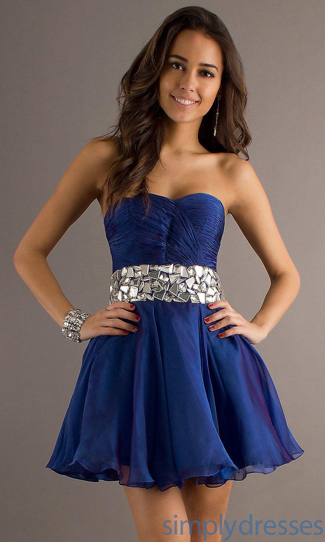 Vestidos de fiesta corto azul