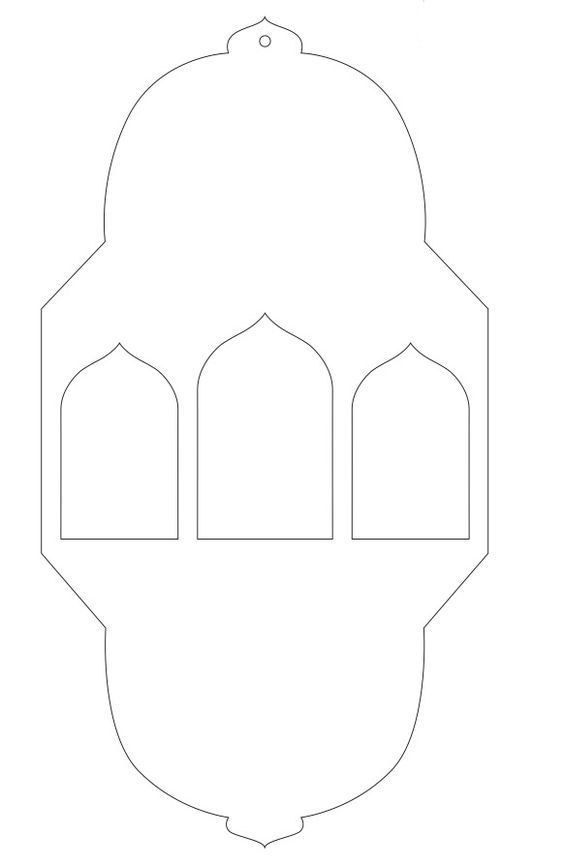 DIY Ramadan Lanterns - diy ramadan decorations printable lantern pattern