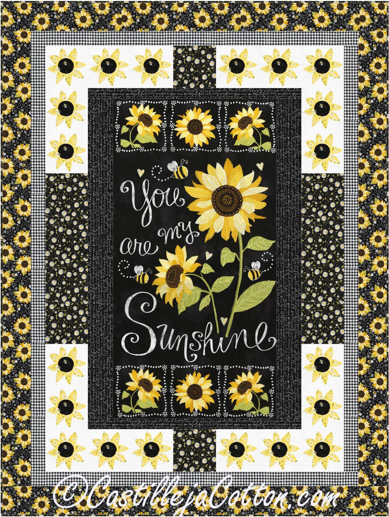 Sunshine Sunflowers Quilt Pattern Cjc 5074 Panel Quilts