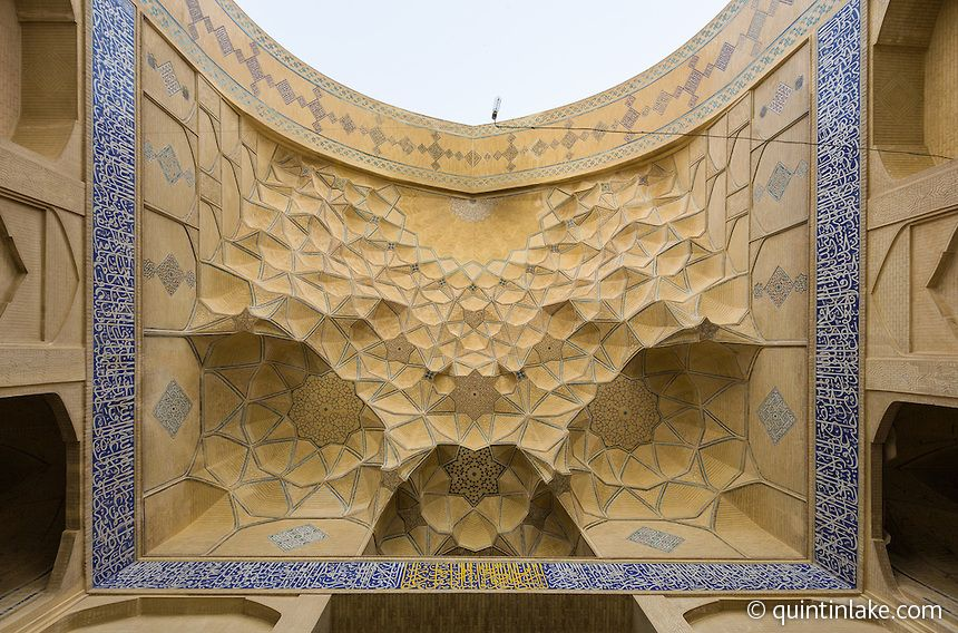 Jameh Mosque aka The Congregational Mosque of Isfahan built from 771 to the end of the 20th century. Isfaham, Iran