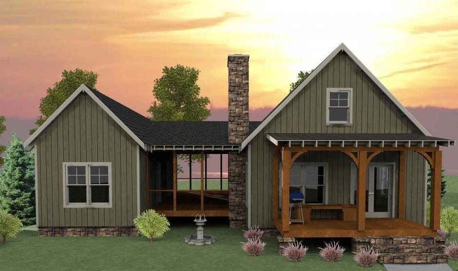 Plan 92318mx 3 Bedroom Dog Trot House Plan Dog Trot House Plans Vacation House Plans Dog Trot House