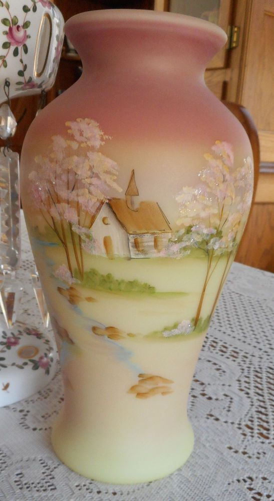 Classic Fenton Burmese Art Glass Vase Yop 2010 Pinterest Burmese