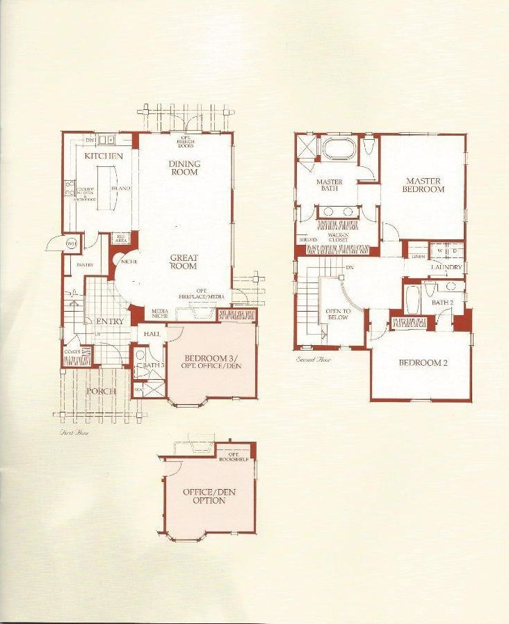 Cottages Collection at the Classics at Evergreen Hills by Shapell – Hearthstone Homes Floor Plans