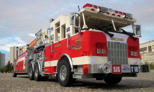 Lego Pierce Arrow Xt Fire Truck Lego Fire Fire Trucks Lego Wheels