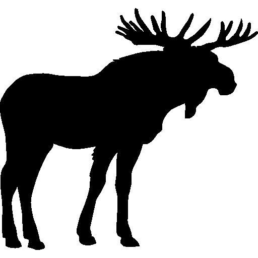 Moose Shape Free Vector Icons Designed By Freepik Moose Silhouette Silhouette Art Animal Icon