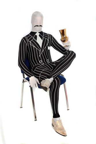 Deluxe Gangster Skintight Bodysuit Morphsuits Costume #Morphsuits #CompleteCostume