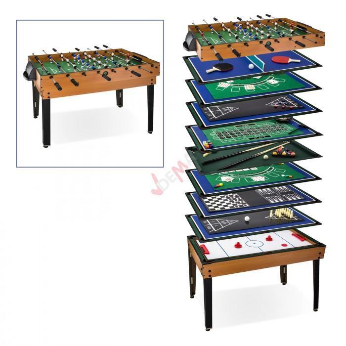 Table Multi Jeux 15 Jeux En 1 Baby Foot Billard Tennis Table