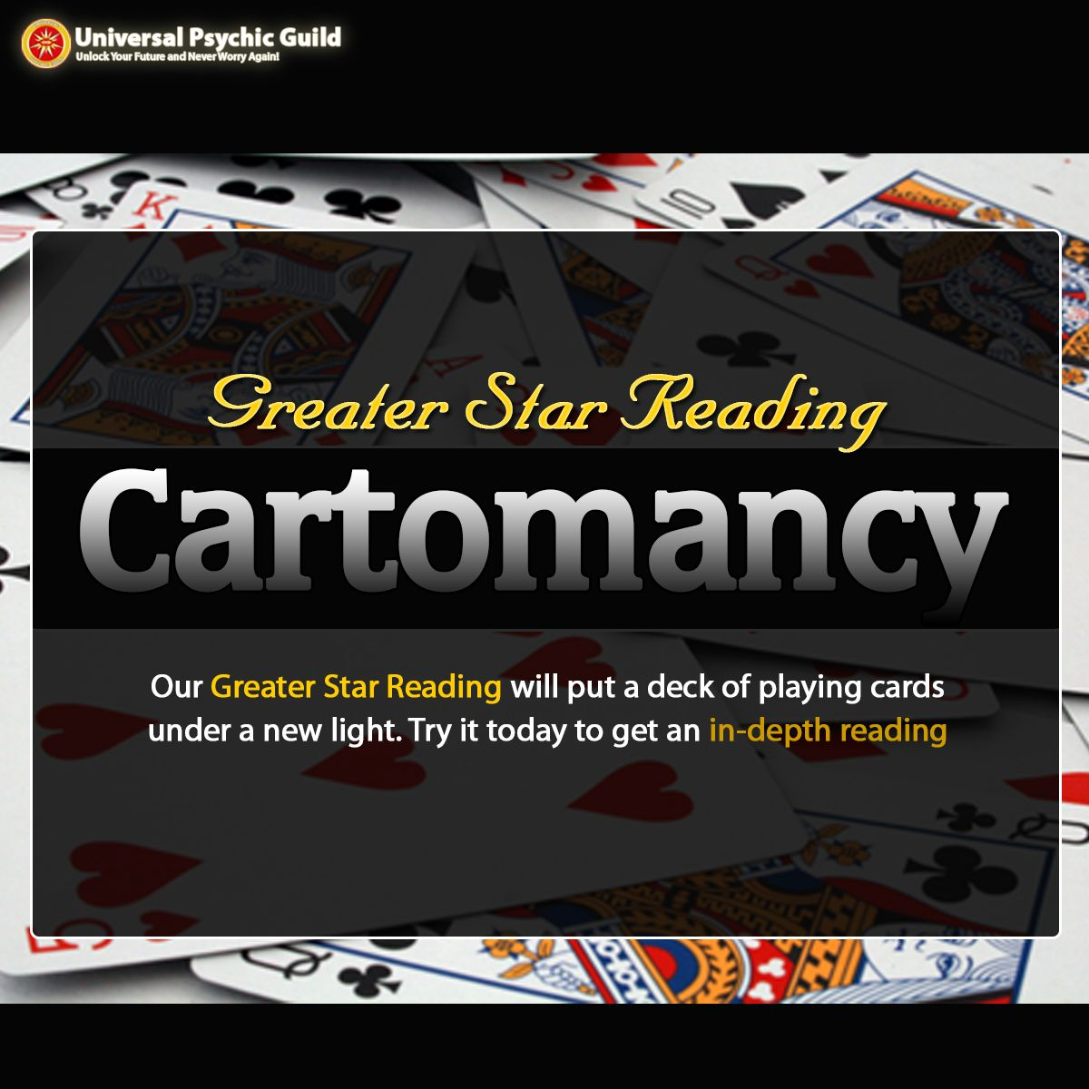 How are the cards stacked for you this year? Utilizing the old specialty of Cartomancy, our Greater Star Cartomancy Reading will give you a fortune figure! - #GreaterStar #CartomancyReading - http://bit.ly/1ONdzge