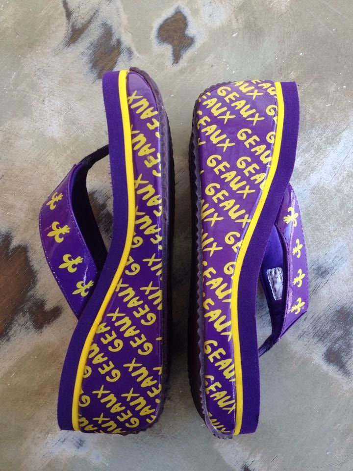 b27ffb559 Fleurty Girl - Everything New Orleans - GEAUX Pattern Wedges by Volatile