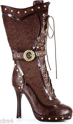 Awesome Victorian Steampunk Women's Boots Halloween 6 7 8 9 10 Brown Gears | eBay. I would break my leg. But these are so cute!