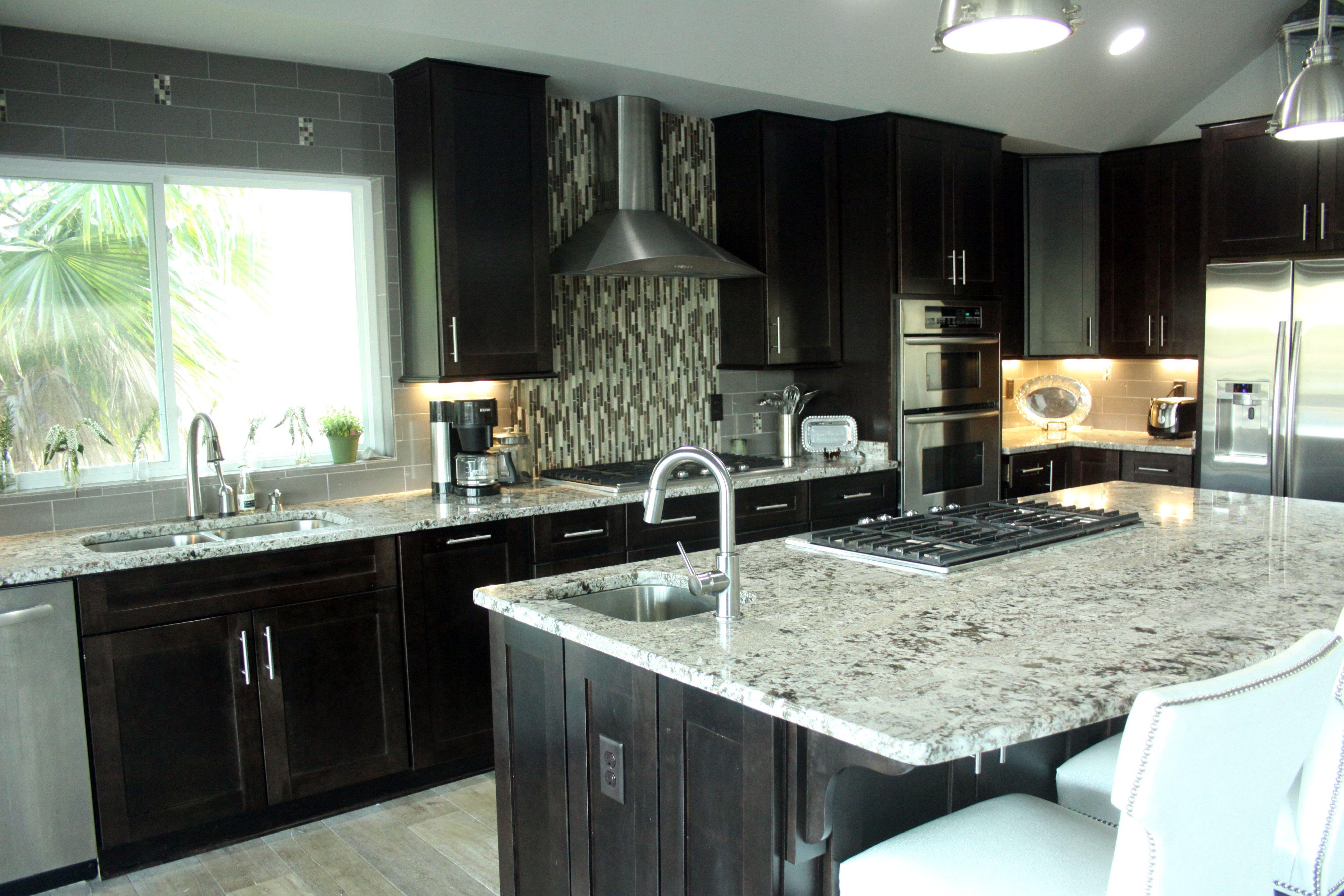 Coffee Color Kitchen Cabinets New Orleans Lennar Espresso White Granite Google
