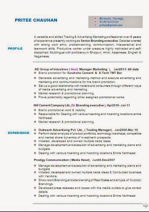 effective resume format Sample Template Example ofExcellent - assistant manager resume format