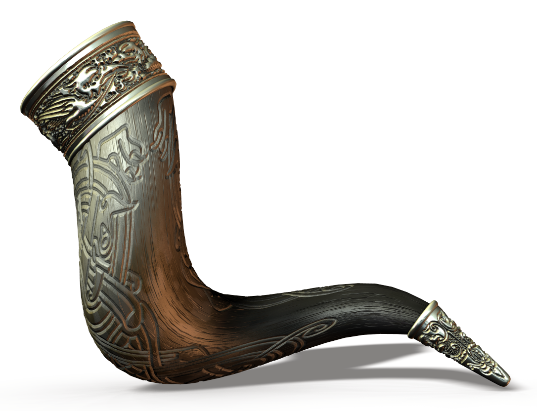 viking drinking horn vessels and accessories vikings. Black Bedroom Furniture Sets. Home Design Ideas