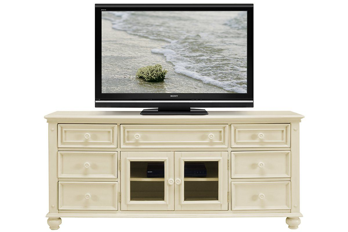 City Furniture: Claire White TV Stand