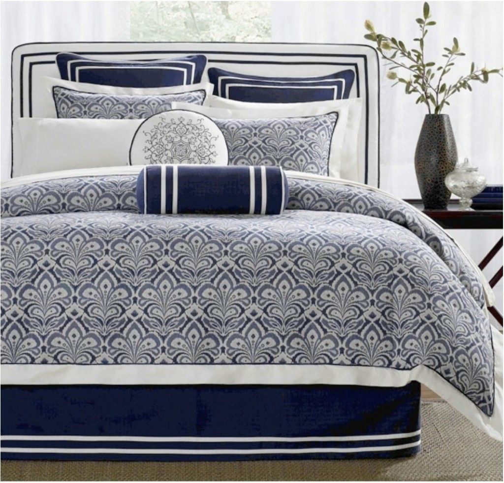 Jla Laurel Hill With Images Blue And White Bedding White Bed