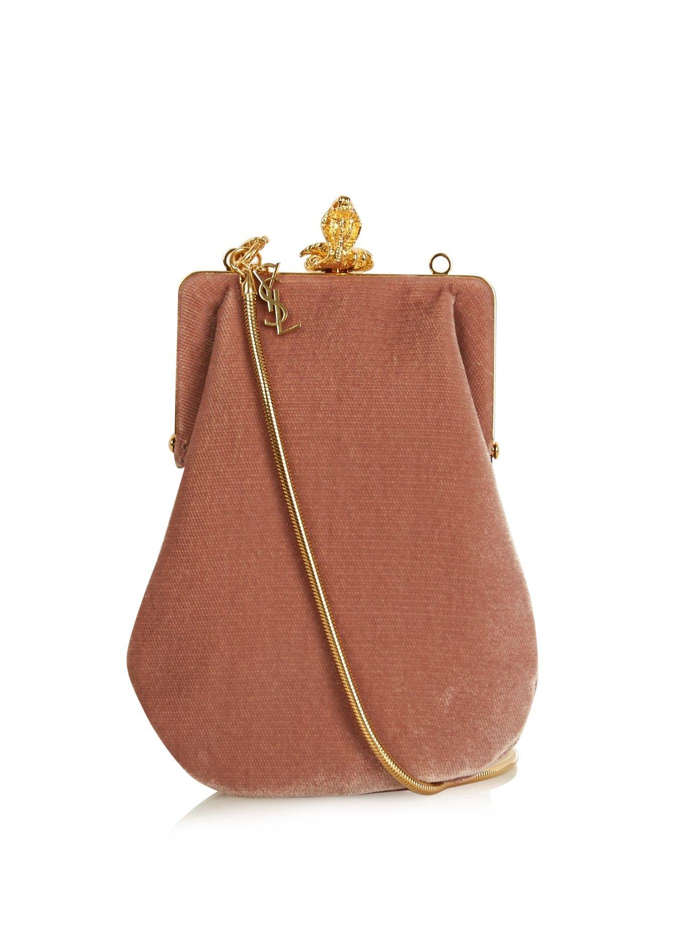 Bijoux Velvet Shoulder Bag Saint Laurent Matchesfashion Com Uk