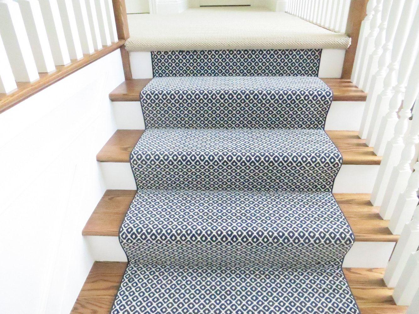 Best Milliken Poetic Custom Blue Color 1 Stair Runner 400 x 300