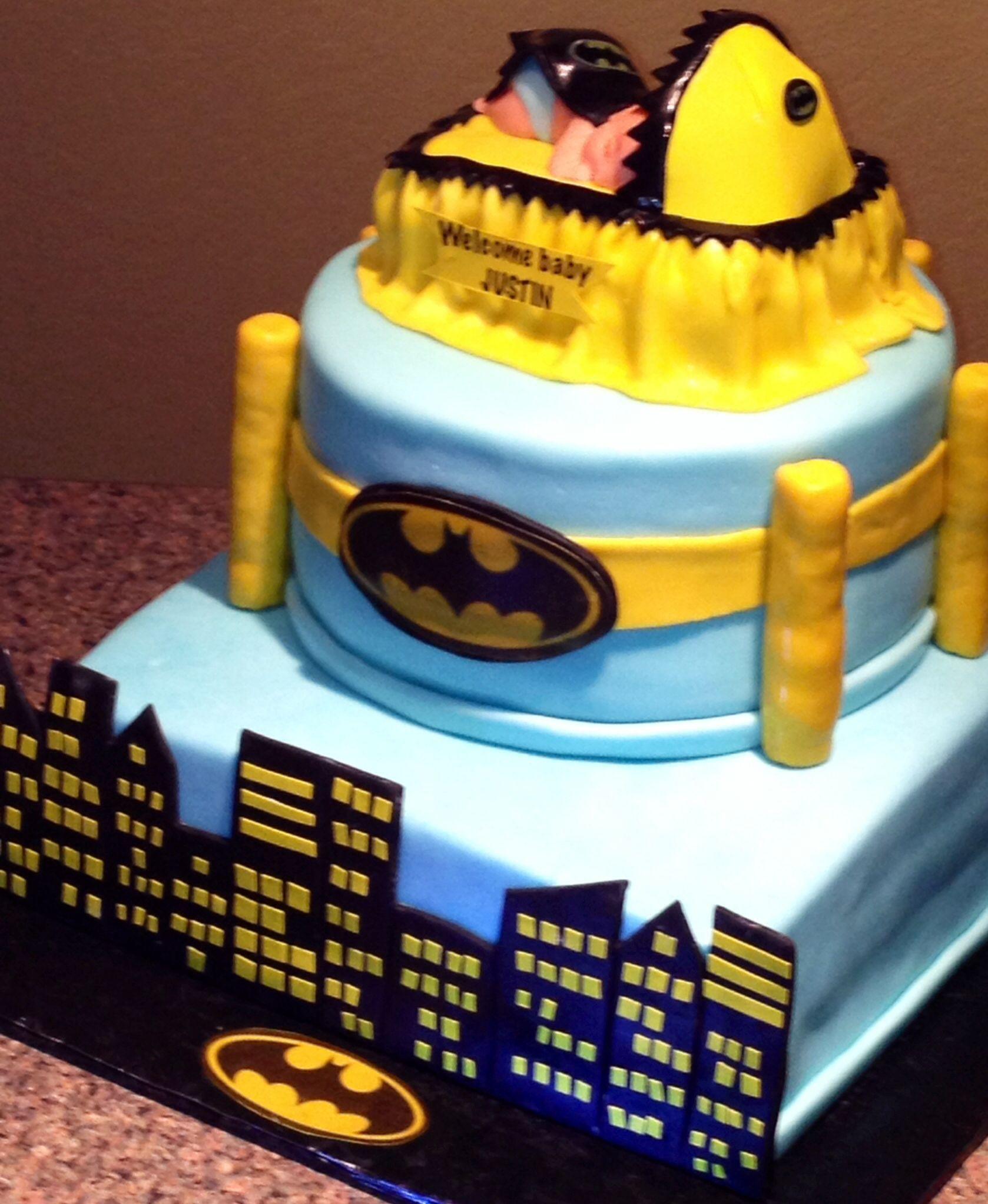 Gmail batman theme - Batman Baby Shower Cake
