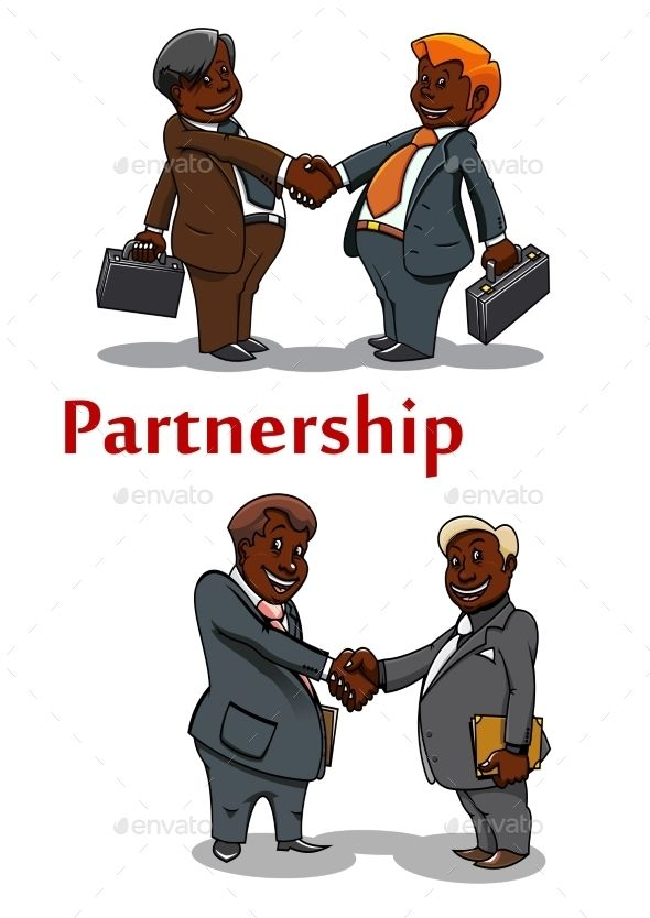 Business Handshakes Of Happy Businessmen