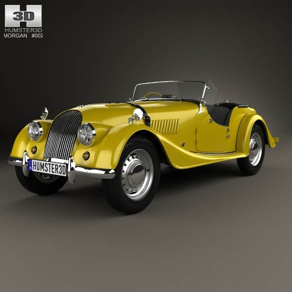 3D model of Morgan Plus 4 1954
