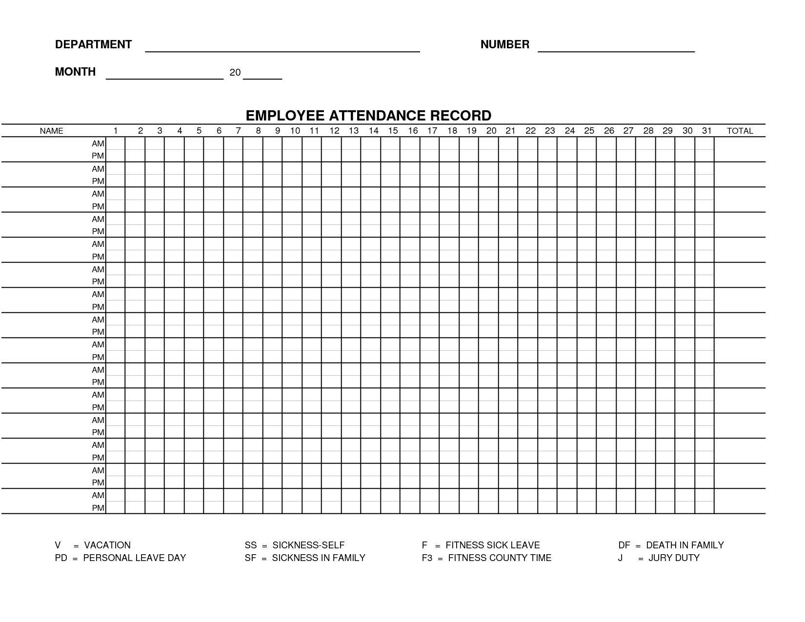 Printable Employee Attendance Calendar Template In 2021 Attendance Sheet Template Attendance Sheet Employee Attendance Sheet Template