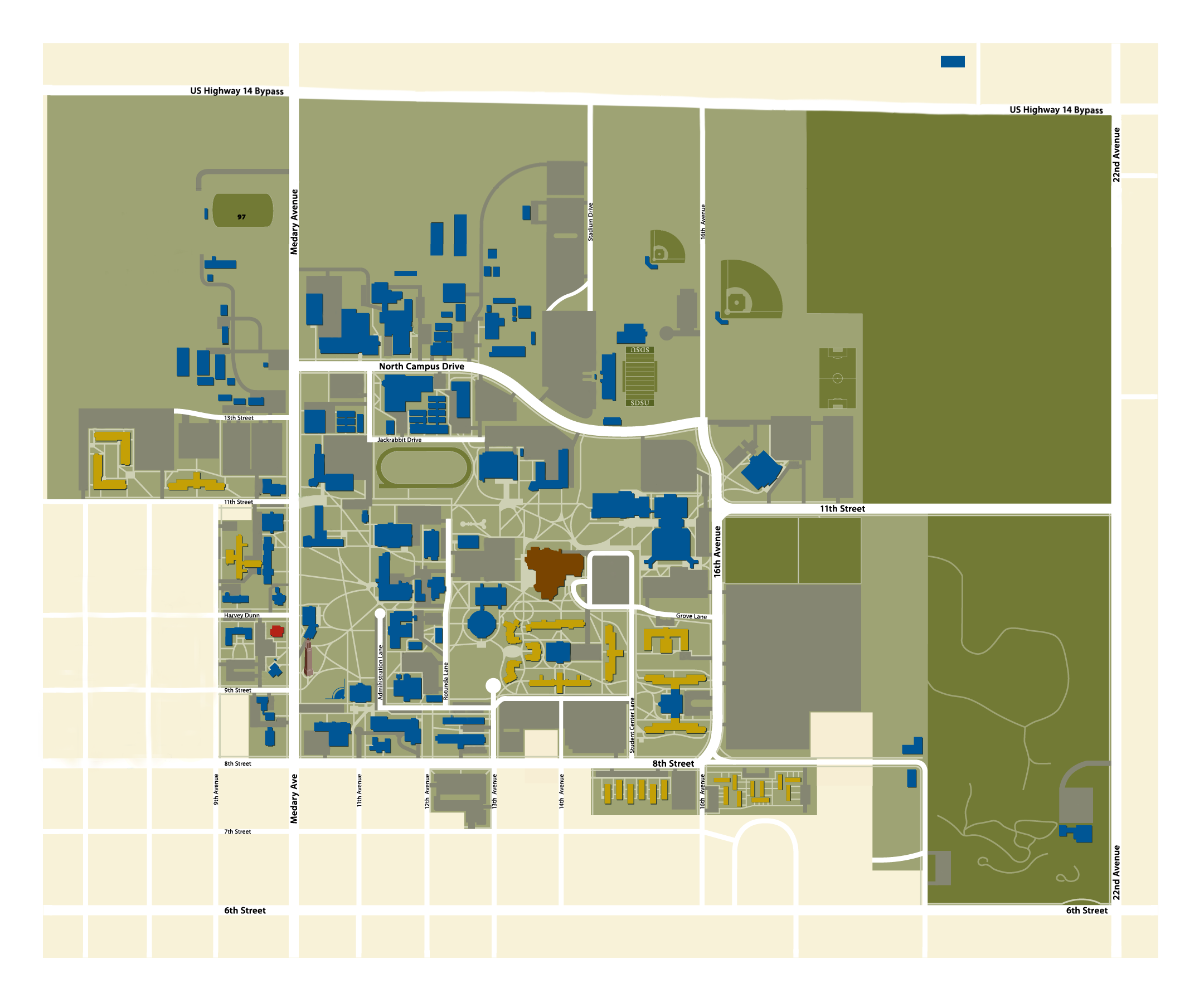 Campus map for SDSU! My building is Pugsley Continuing Ed ...