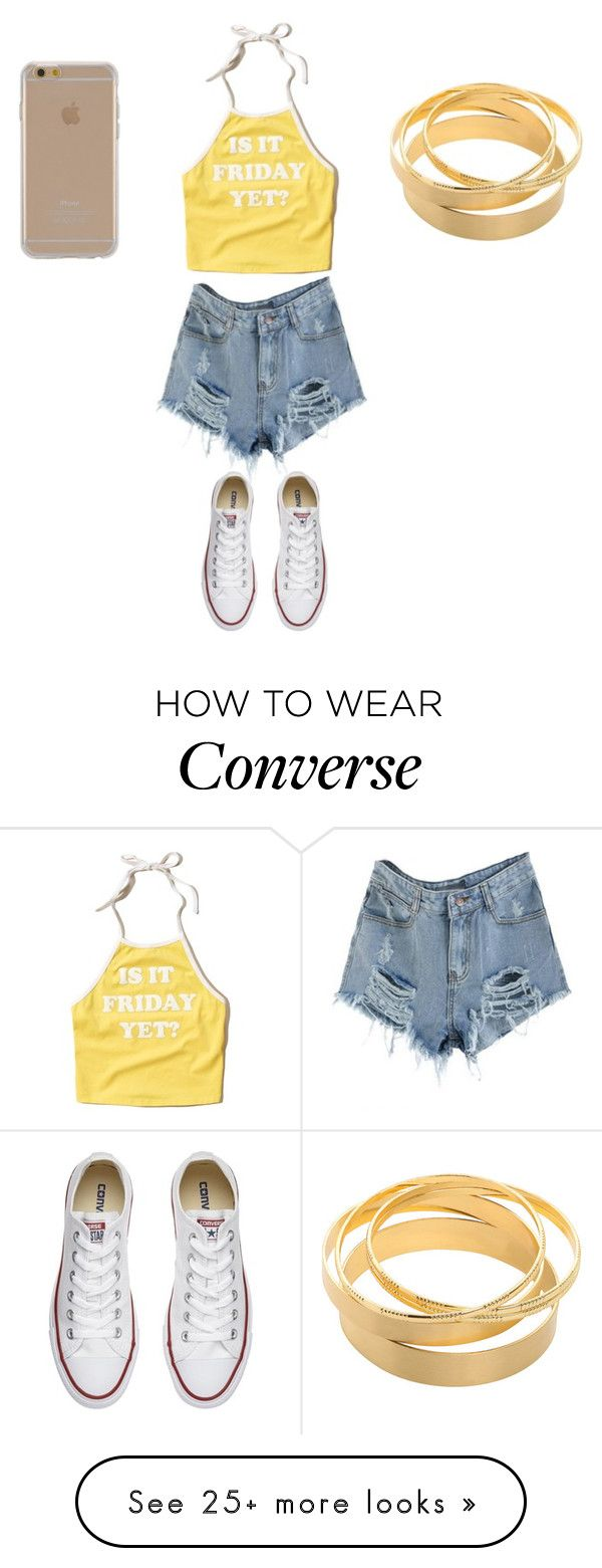 """""""Sans titre #6997"""" by ghilini-l-roquecoquille on Polyvore featuring Hollister Co., Converse and Agent 18"""