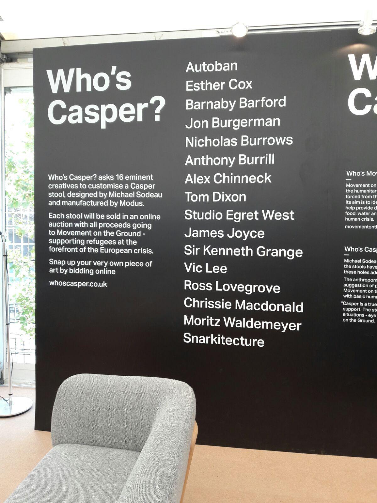 Who's Casper? at Design Junction #designjunction #djKX
